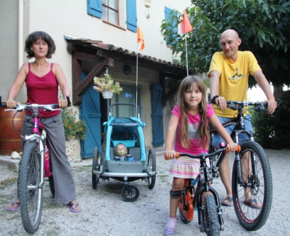 Super cyclists: Katarina, Lukas, Laura and Jakob from Prague.