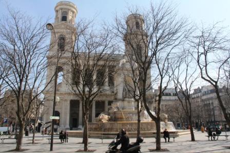 St.-Suplice -- near our Paris chanbre d'hote.