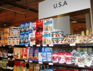 American products at La Greande Epicerie Paris.