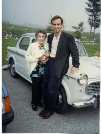 Fabio and his grandmother in 1996.