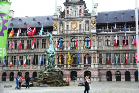 Antwerp's City Hall dominates the Grote Markt.
