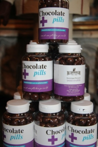 You can even find Chocolate Pills at the Chocolate Line.