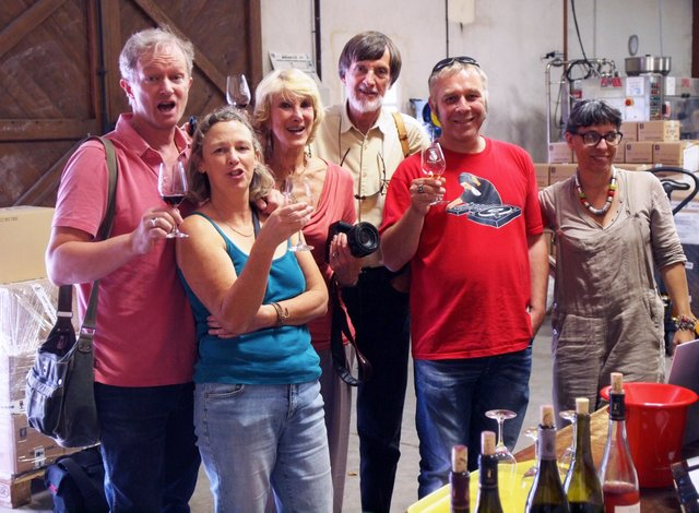 Happy Wine Tasters--photo by David Regan