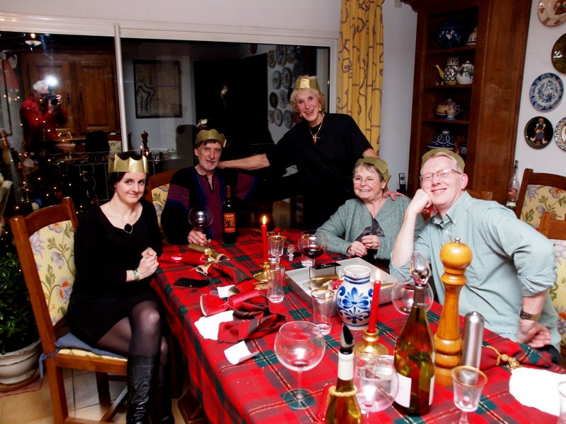 The finale:  Christmas crackers and hats