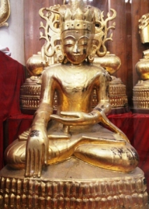 Buddha statues are often golden.