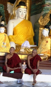 Monks and Buddha.