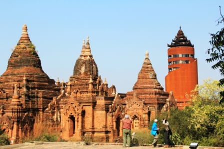 Military gov't built ugly tower in Bagan, closed temples with rooftop views and charged admission to the tower.Temples have been reopened
