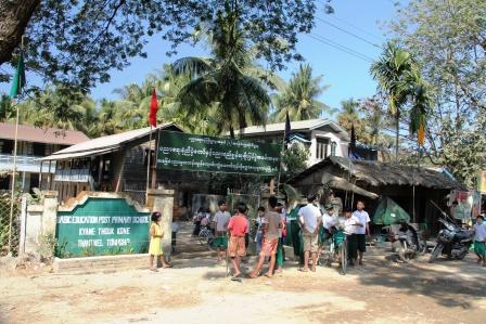 Village school along our bike route