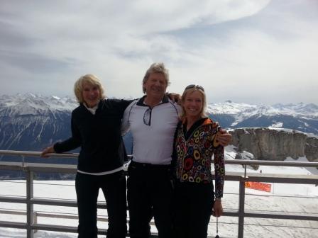 Me, Peter and Risa at Crans Montana,
