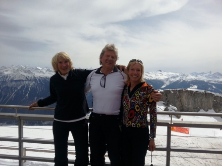 Me, Peter and Risa at Crans Montana,