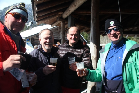 Czech beer after the cross country race was a hit.