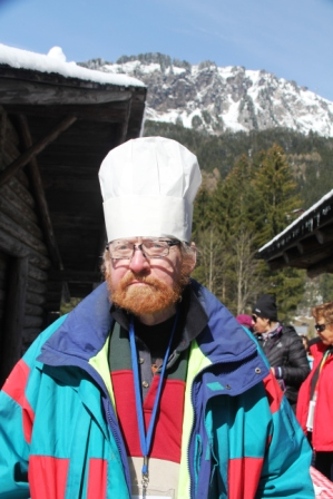 Koos from Holland, the man behind the traditional pea soup served after cross country  race.