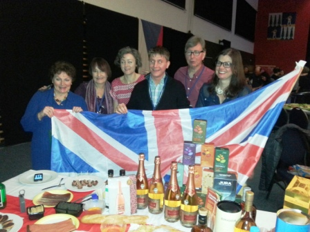 British table at Nations Night