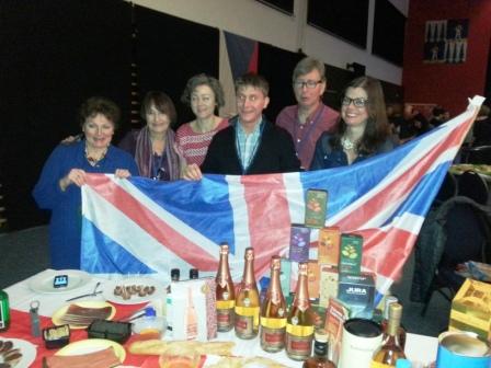 British table at Nations Night