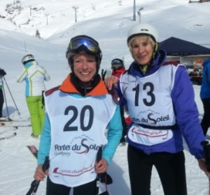 American teammate Risa Wyatt et moi.
