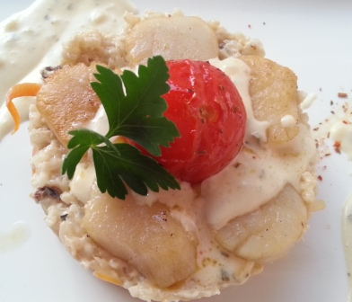 Scallops and risotto -- appearance isn't everything.