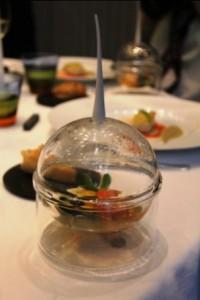 Petite marmite basque, sauce Ttoro in unique bowl