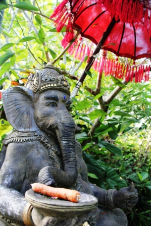 Ganesh, god of wisdom and lord of good fortune.