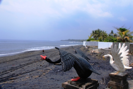 Bali is famous for beaches -- but not this one with black sand.