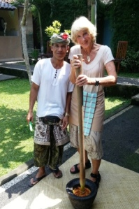 """with """"Balinese blender."""""""