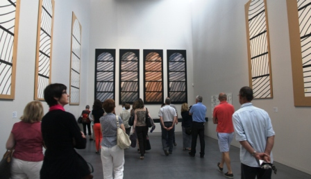 Models of Soulages windows in the Rodez museum.