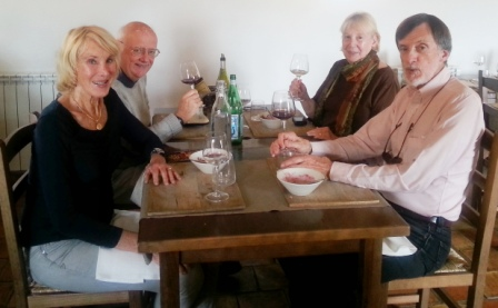 Noel and Carol treated us to lunch and some fine wines at Le Bistrot de Lagarde which now has a Michelin star.
