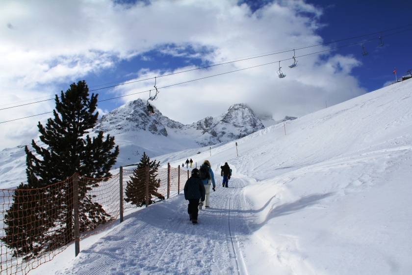 For non-skiers, there are plenty of high altitude trails in the snowy mts.