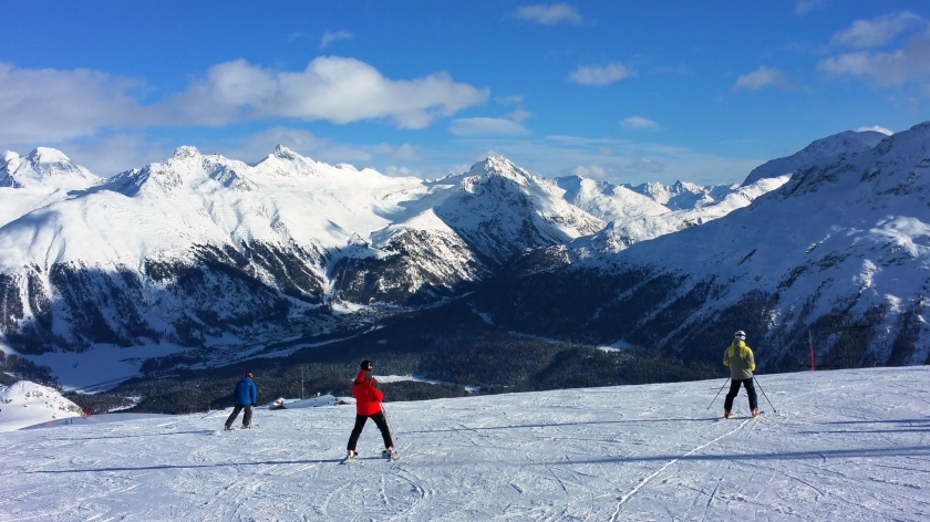 No crowds on St. Moritz slopes