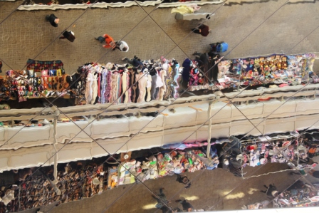 Barcelona's huge flea market has moved and is now under a huge mirrored ceiling.