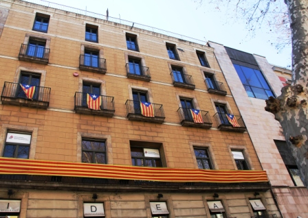 Catalans hope for independence and often display their flag.