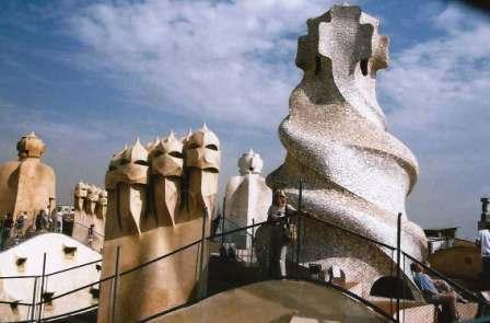 Roof of Gaudi's La Pedrera