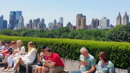 Rooftop terrace at the Metropolitan Museum of Art.