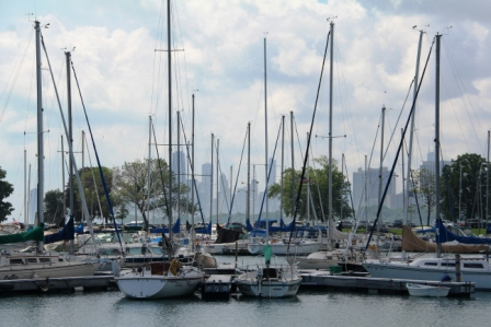 Boat harbor on Lake Michigan