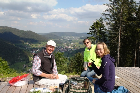 Rolf Wein led us to his favorite spot in the Black Forest.