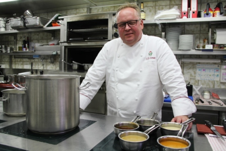 3* Chef Claus-Peter Lumpp in his kitchen