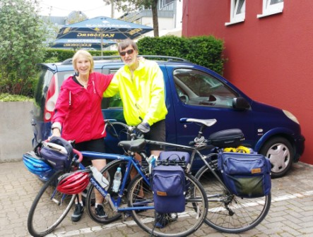 We made it -- back to the car in Merzig where it all began.