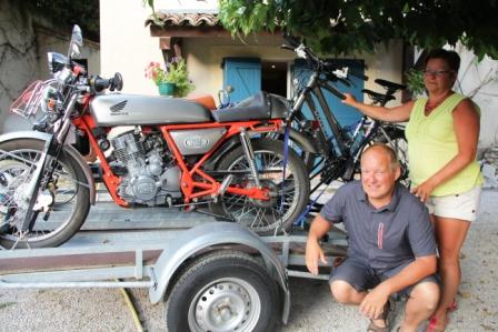 Patrick, Chantal and their bikes