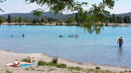 Lake Vannades near Manosque where I enjoyed a real swim