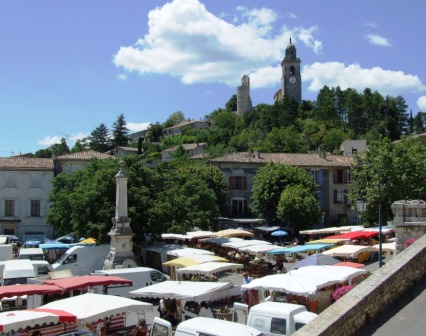 Sunday market in Reillanne