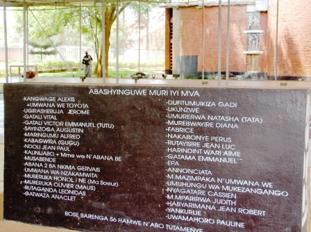 Names of the dead at mass grave