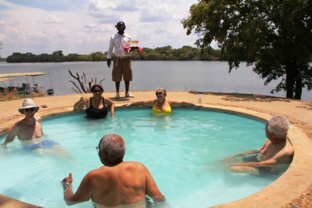In the stiffeling heat, the plunge pool was perfect for cooling off.