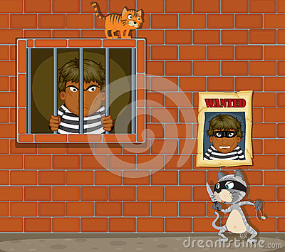 thief-jail-illustration-theif-white-background-32201960
